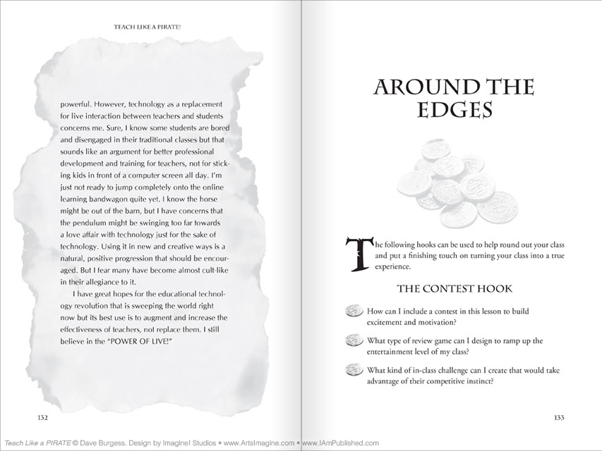 Around The Edges, interior spread, pages 132-133 of Teach Like a Pirate: Increase Student Engagement, Boost Your Creativity, and Transform Your Life as an Educator.